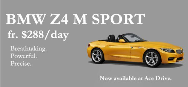 Bmw Z4 M Sport Now Available For Rent At Ace Drive Up To