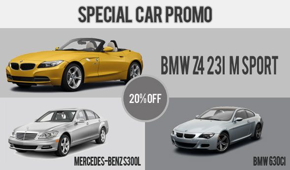 Special Car Rental Promo - December 2012 1st Fortnight