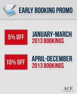 Early Booking Car Rental Promo - October 2012 1st Fortnight