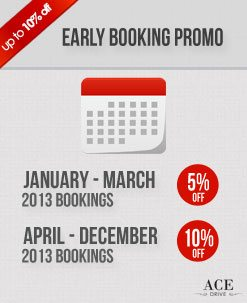 Early Booking Car Rental Promo - October 2012 2nd Fortnight