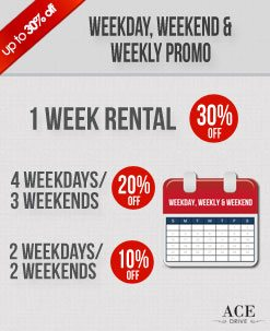Weekly Car Rental Promo - October 2012 2nd Fortnight