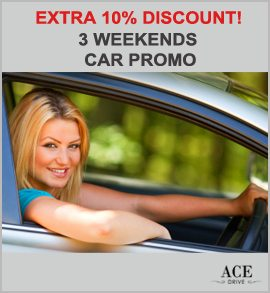 Up to 55 Percent Discount - 3 Weekends Car Promo