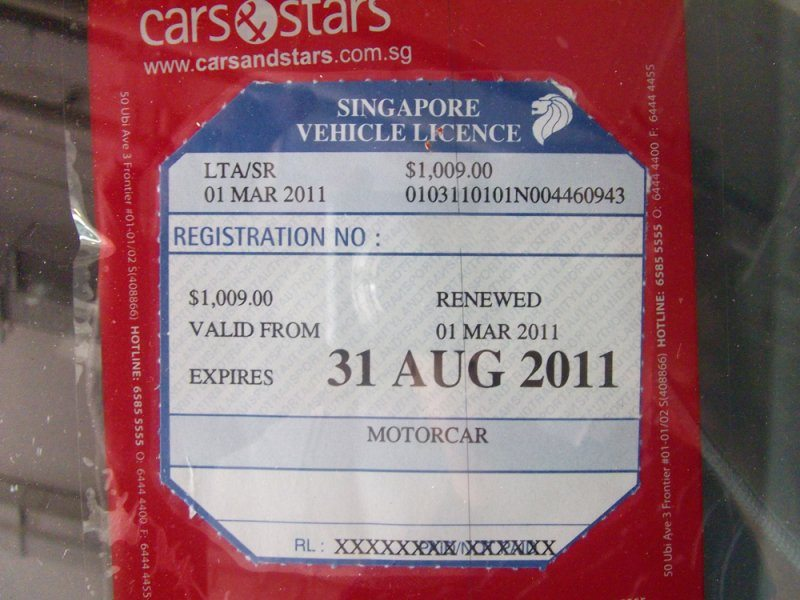 Road Tax For Car Rental