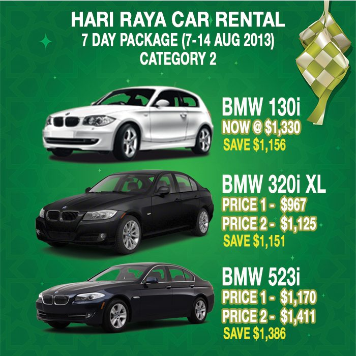 Category 2 Rental Cars - 2013 Hari Raya Package