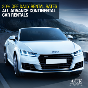 30% Off Daily Rental Rates All Advance Continental Car Rentals