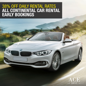 38% Off Daily Rental Rates All Continental Car Rental Early Bookings