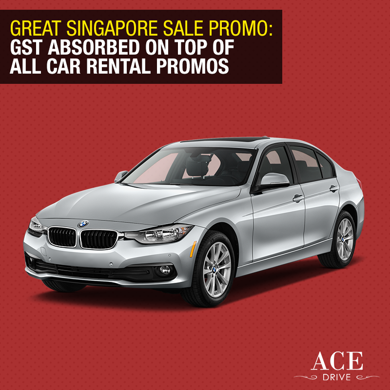 Great Singapore Sale Promo: GST Absorbed on Top of All Car Rental Promotions