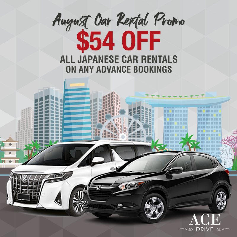 August Car Promo: $54 Off All Japanese Car Rentals on Any Advance Car Rental Bookings