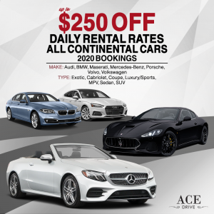 Up to $250 Off Daily Rental Rates All Continental Cars 2020 Bookings