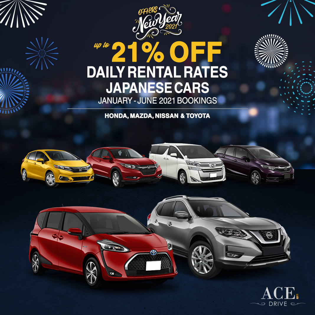 2021 New Year Offers Up to 21% Off Daily Rental Rates Japanese Cars January - June 2021 Bookings