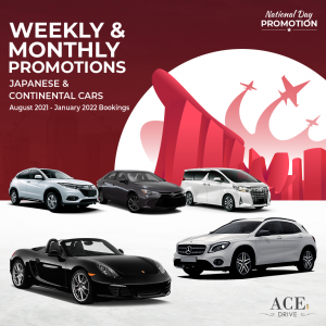 Weekly & Monthly Car Rental Promotions Japanese & Continental Cars July - December 2021 Bookings